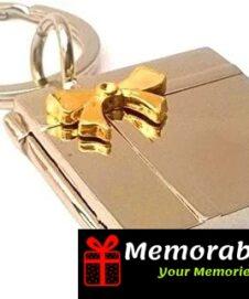 Photo keychain metal